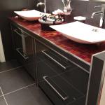 Salle de bain laqué gris anthracite